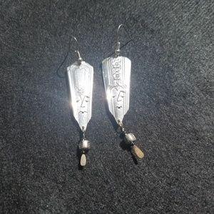 Unique silverware earrings
